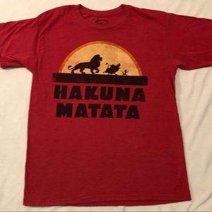 Disney's Lion King T-shirt Hawkins Matata Sz M